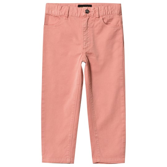 Mini Rodini Cat Campus Twill Pants Pink Pink