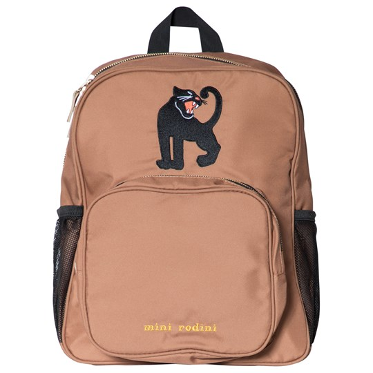 Mini Rodini Panther School Bag Beige Beige
