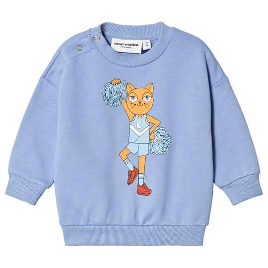Mini Rodini Cheercats Sweatshirt Blue Blue