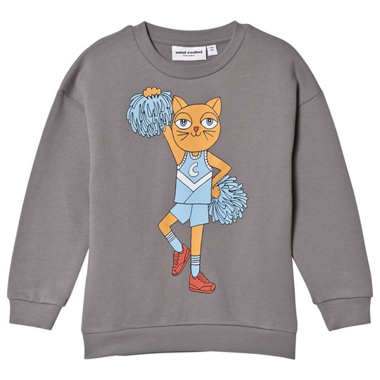 Mini Rodini Свитшот Cheercat Grey Black