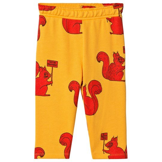 Mini Rodini Squirrel Sweatpants Yellow Yellow