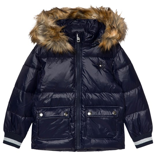 Diesel Navy Padded Puffer Hooded Coat K860