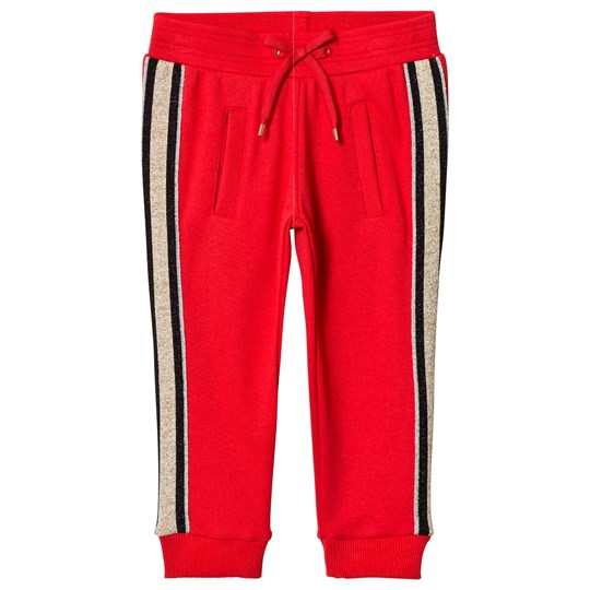 Little Marc Jacobs Sweatpants with Side Stripes Red 97S