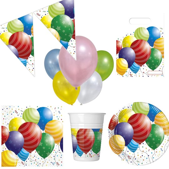 Decorata Party Balloons Party Pack White