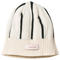 Tinycottons Stripes Beanie Beige/Dark Green