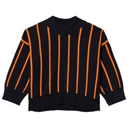 Tinycottons Stripes Mock Sweater Navy/Red