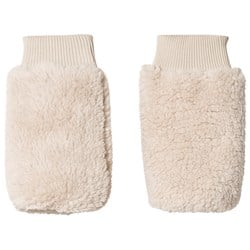 Tinycottons Fluffy Leg Warmers Beige