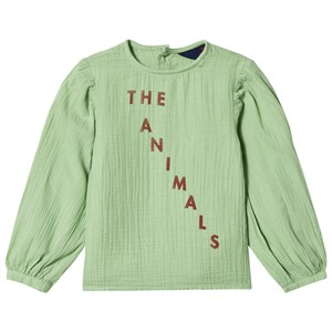 Image of The Animals Observatory Opossum Shirt Green Red The Animals 3 år (3056065481)