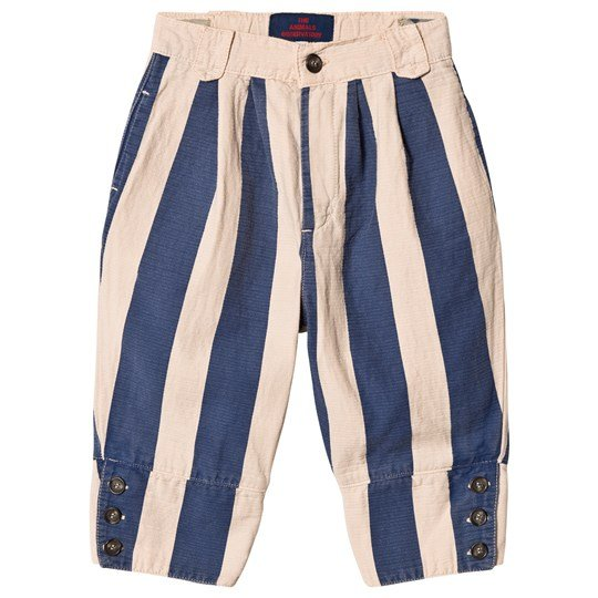 The Animals Observatory Elephant Pants Rose Blue Stripes Rose Blue Stripes