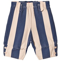 The Animals Observatory Elephant Baby Pants Rose Blue Stripes