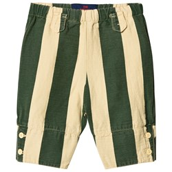 The Animals Observatory Elephant Baby Pants Yellow Maroon Stripes