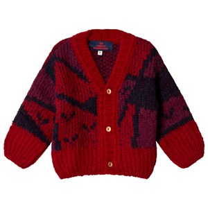 Image of The Animals Observatory Arty Peasant Baby Cardigan Red Apple 12 mdr (3056065921)