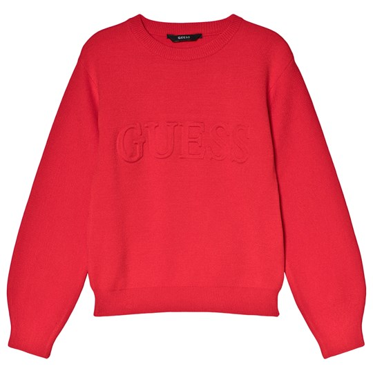 high fashion lovely luster so cheap Red Logo Knit Jumper