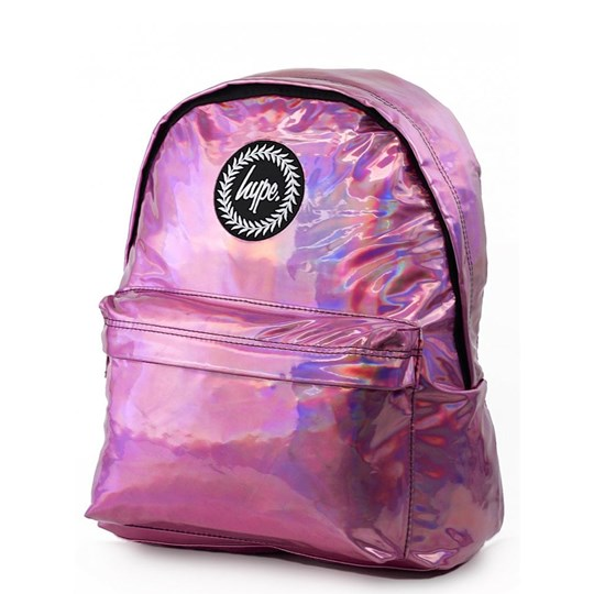 Hype Pink Holographic Backpack Pink