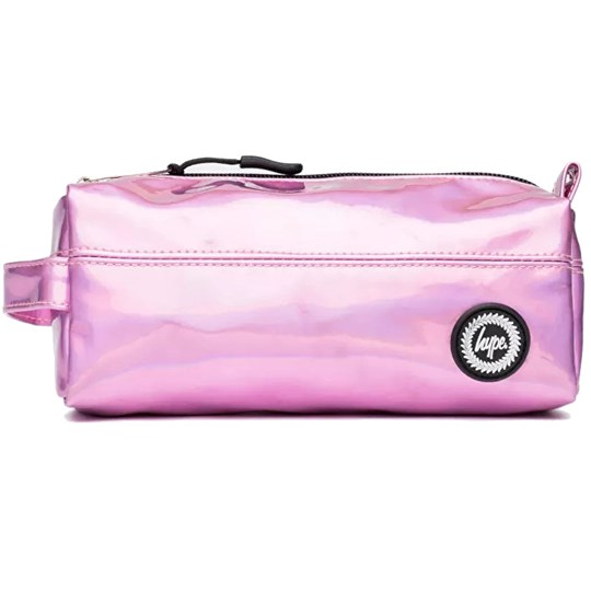 Hype Pink Holographic Pencil Case Pink
