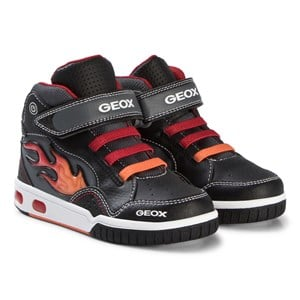 Image of Geox Black Flame Light Up Junior Android Trainers 26 (UK 8.5) (3065534133)