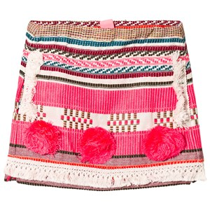 Image of Billieblush Pink Woven and Pom Pom Skirt 12 years (1118429)
