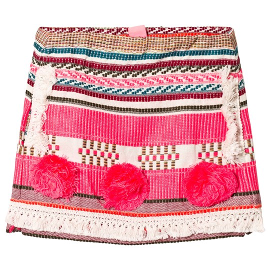 Billieblush Pink Woven and Pom Pom Skirt Z40