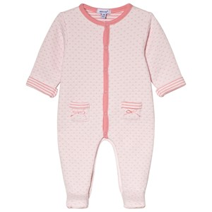 Image of Absorba Quilted Footed Baby Body Pink 12 months (3056070919)