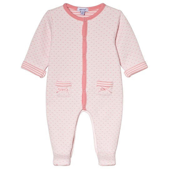 Absorba Quilted Footed Baby Body Pink 34