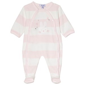 Image of Absorba Bunny Footed Baby Body Pale Pink/Cream 1 month (3056070943)