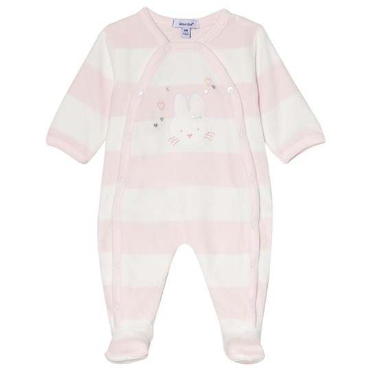 Absorba Bunny Footed Baby Body Pale Pink/Cream 30