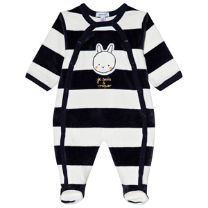 Image of Absorba Bunny Footed Baby Body Navy/White 12 months (3056070989)