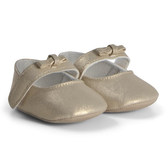 Absorba Crib Shoes Gold Shimmer 11