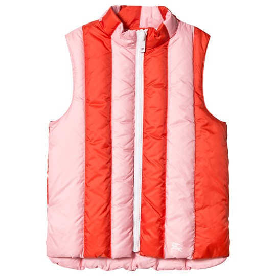 Burberry Coral and Pink Ardelle Padded Gilet Powder Pink