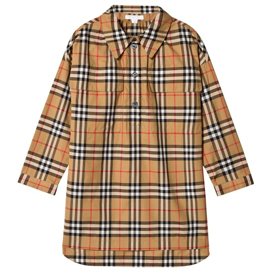 Burberry Antique Check Maryalice Shirt Dress ANTIQUE YELLOW