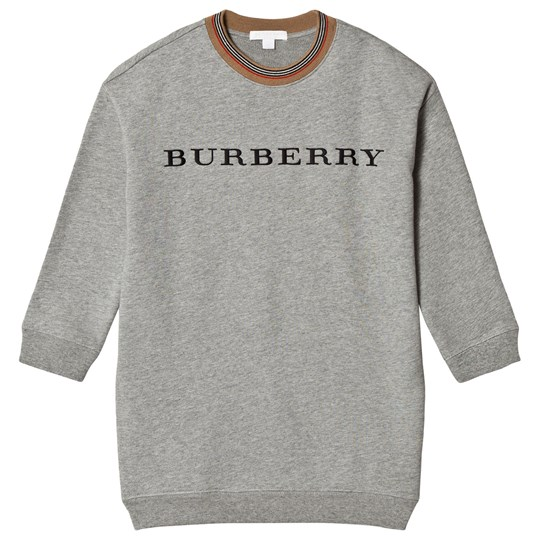 Burberry Grey Branded Glenda Sweat Dress Grey Melange