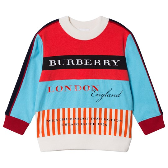 Burberry Multicolor Branded Marc Sweatshirt Bright Red