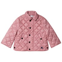 Burberry - Quilted Jacket with Check-Lined Hood Fritillary Pink ... 524a9f4365