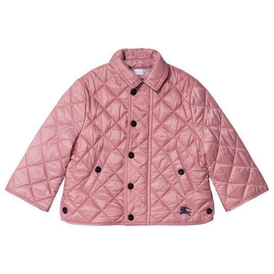 Burberry Pale Ash Rose Mini Lyle Quilted Jacket Pale Ash Rose