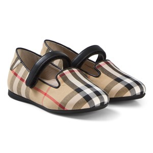 Image of Burberry Antique Check Ally Velcro Mary Janes 23 (UK 6) (3056066729)