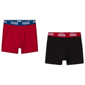 Image of Puma Basic Boxer 2P Red/Black 146/152 cm (3056107597)