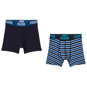 Image of Puma Striped Boxer Shorts Blue 134/140 cm (1190303)