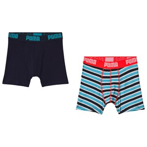 Image of Puma Striped Boxer Shorts Red/Blue 122/128 cm (3056107617)