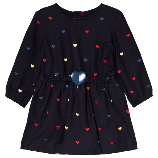 Stella McCartney Kids Dress with Embroidered Hearts Navy 4099 - Embro Hearts