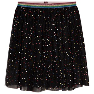 Image of Stella McCartney Kids Skirt with Multicolored Spots Black 3 years (1130356)