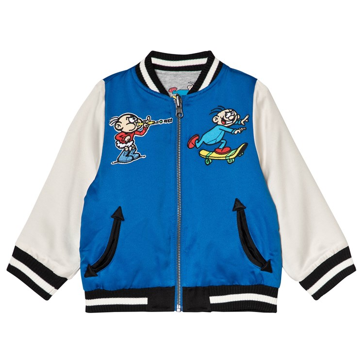 7dc5ea13 Stella McCartney Kids. andy Reversible Bomber Jacket Blue