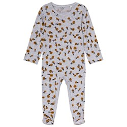 Stella McCartney Kids Twiddle Footed Baby Body Grey Bumblebee