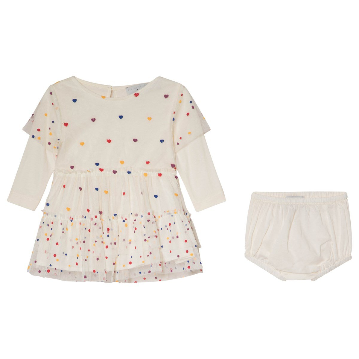 71fb3bc20 white karina baby tulle dress with multicoloured spots stella mccartney kids