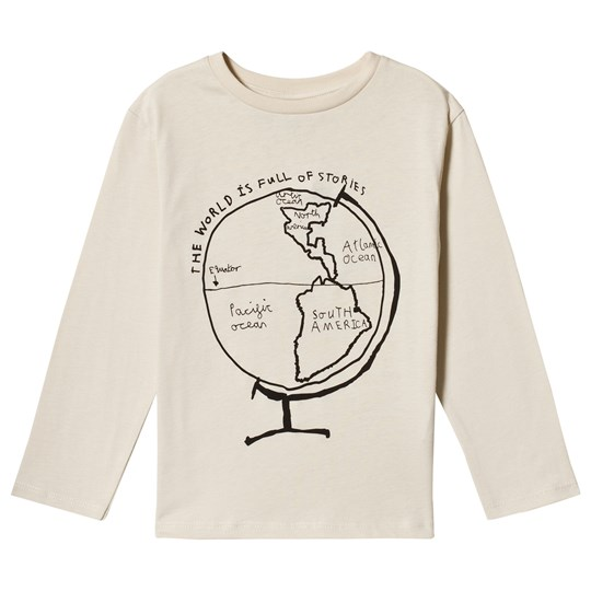 Beau Loves Globe Jersey T-shirt Natural/Svart Natural Globe Black