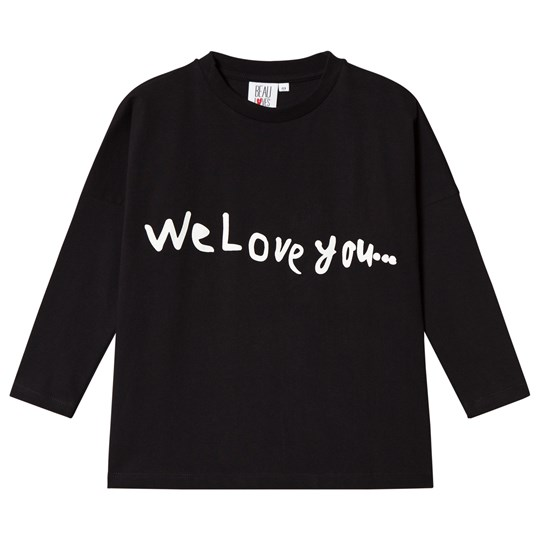 Beau Loves We Love You Square T-Shirt Black/Natural Black We Love You Natural