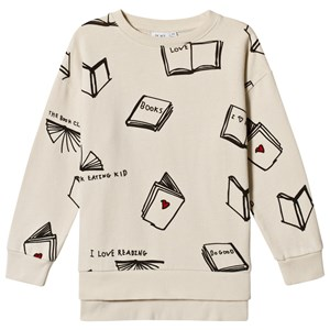 Image of Beau LOves Books Relaxed Fit Sweatshirt Natural/Black 10-11 år (3056082401)