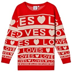 Beau Loves Loves Stripes Knit Sweater Red/Cream