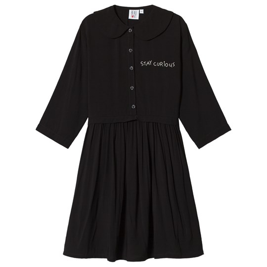 Beau Loves Stay Curious Oversized Collar Dress Black Black