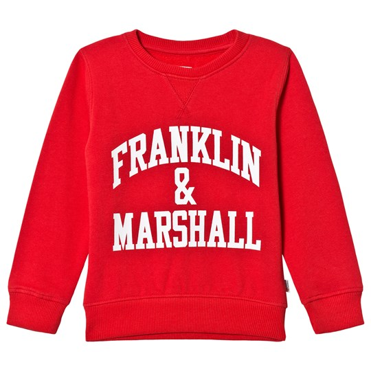 Franklin & Marshall Red Branded Sweater 933