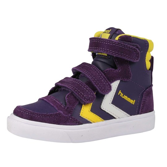 Hummel Stadil Jr Leather Purple Purple